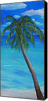 Rafael Gonzales Canvas Prints - Looks like a Palm tree. Canvas Print by Rafael Gonzales