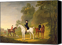 Huntsmen Photo Canvas Prints - Lord Bulkeley and his Harriers Canvas Print by Francis Sartorius