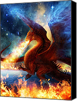 Illustration Canvas Prints - Lord of the Celestial Dragons Canvas Print by Philip Straub