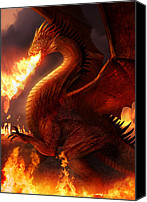 Mythology Canvas Prints - Lord of the Dragons Canvas Print by Philip Straub