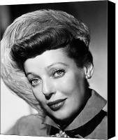 Hairstyle Canvas Prints - Loretta Young (1913-2000) Canvas Print by Granger