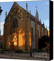Santa Fe Digital Art Canvas Prints - Loretto Chapel 1878 Canvas Print by David Lee Thompson