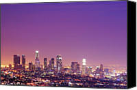 Copy Space Canvas Prints - Los Angeles At Dusk Canvas Print by Dj Murdok Photos