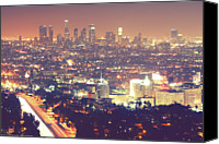 Long Canvas Prints - Los Angeles Canvas Print by Dj Murdok Photos