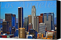 Downtown Los Angeles Canvas Prints - Los Angeles Canvas Print by Kelley King