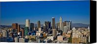 Downtown Los Angeles Canvas Prints - Los Angeles Skyline Canvas Print by Chris Brannen