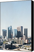 Downtown Los Angeles Canvas Prints - Los Angeles Skyline From City Hall 27th Floor Canvas Print by Alexandre Fundone