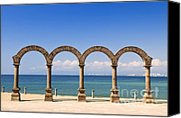 Column Canvas Prints - Los Arcos Amphitheater in Puerto Vallarta Canvas Print by Elena Elisseeva