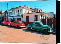 Havana Daydreams Canvas Prints - Los Tres Amigos Canvas Print by Dominic Piperata