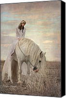 White Horses Canvas Prints - Lost Elves 2 Canvas Print by Dorota Kudyba