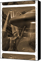 Ufo Canvas Prints - Lost Film 35 mm Canvas Print by Mike McGlothlen