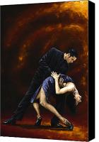 Tango Canvas Prints - Lost in Tango Canvas Print by Richard Young