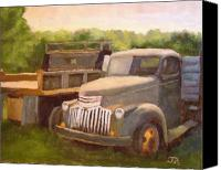 Old Trucks Canvas Prints - Lost in the backwoods Canvas Print by Tate Hamilton