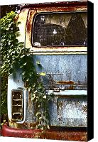 Rusted Cars Canvas Prints - Lost In Time Canvas Print by Carolyn Marshall