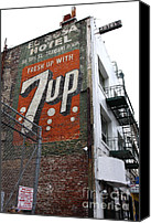 City Streets Canvas Prints - Lost In Urban America - El Rosa Hotel - Tenderloin District - San Francisco California - 5D19351 Canvas Print by Wingsdomain Art and Photography