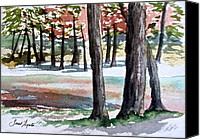 State Park Painting Canvas Prints - Lost Maples Canvas Print by Frank SantAgata