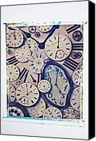 Dial Photo Canvas Prints - Lost Time Canvas Print by Garry Gay