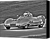 Lotus Sportscar Canvas Prints - Lotus 11 Monochrome Canvas Print by Alan Raasch