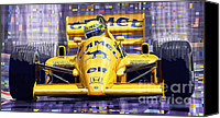 1987 Canvas Prints - Lotus 99T SPA 1987 Ayrton Senna Canvas Print by Yuriy  Shevchuk