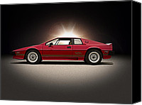 Lotus Sportscar Canvas Prints - Lotus Esprit Canvas Print by Douglas Pittman