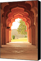 Ruin Photo Canvas Prints - Lotus Mahal Canvas Print by Jon Anderson
