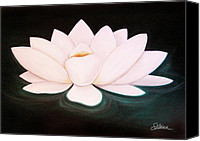 Yoga Canvas Prints - Lotus Canvas Print by Sabina Espinet