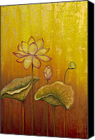 Lotus Bud Canvas Prints - Lotus Canvas Print by Yuliya Glavnaya