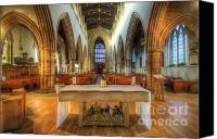 Lights Framed Prints Canvas Prints - Loughborough Church Altar Canvas Print by Yhun Suarez