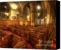 Lights Framed Prints Canvas Prints - Loughborough Church Pews Canvas Print by Yhun Suarez