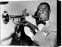 Black Tie Photo Canvas Prints - Louis Armstrong 1900-1971 Canvas Print by Granger