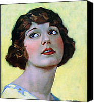 Pin-up Painting Canvas Prints - Louise Huff 1920 Canvas Print by Stefan Kuhn