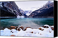 Winter Prints Canvas Prints - Louise Ice Canvas Print by Andrea Hazel Ihlefeld
