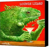 Lounge Canvas Prints - Lounge lizard... Canvas Print by Will Bullas