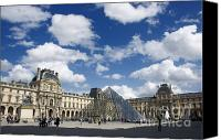 Ile De France Canvas Prints - Louvre museum. Paris Canvas Print by Bernard Jaubert