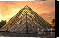 The Louvre Museum Canvas Prints - Louvre Sunset VI Canvas Print by Chuck Kuhn