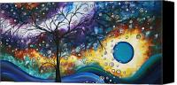 Blue Painting Canvas Prints - Love and Laughter by MADART Canvas Print by Megan Duncanson