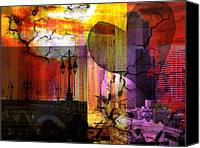 Landmarks Mixed Media Canvas Prints - LOVE and MYSTERY  Canvas Print by Christine Mayfield