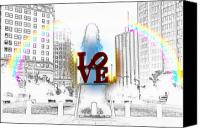Love Park Canvas Prints - Love Canvas Print by Bill Cannon