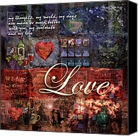 Love Canvas Prints - Love Canvas Print by Evie Cook