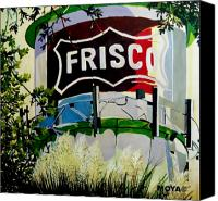 Austin Mixed Media Canvas Prints - Love Frisco Canvas Print by Diana Moya