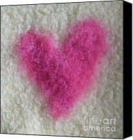 Pink Tapestries - Textiles Canvas Prints - Love Heart  Canvas Print by Heather Hennick
