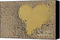 Mud Canvas Prints - Love In A Muddy Puddle Canvas Print by Meirion Matthias