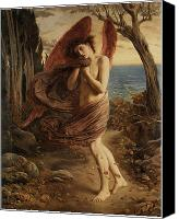 Fantasy Painting Canvas Prints - Love in Autumn Canvas Print by Simeon Solomon