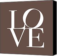 Words Canvas Prints - Love in Chocolate Canvas Print by Michael Tompsett