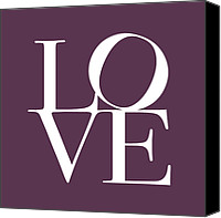 Hearts Canvas Prints - Love in Mullbery Plum Canvas Print by Michael Tompsett