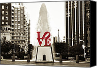 Love Park Canvas Prints - Love in Philadelphia Canvas Print by Bill Cannon