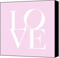 Words Canvas Prints - Love in Pink Canvas Print by Michael Tompsett