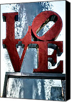 Love Park Canvas Prints - Love in the Afternoon Canvas Print by Bill Cannon