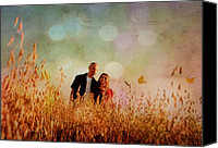 Farm Scenes Canvas Prints - Love Is In the Air Canvas Print by Emily Stauring