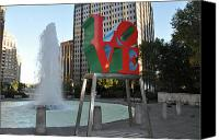 Love Park Canvas Prints - Love is the Word Canvas Print by Bill Cannon